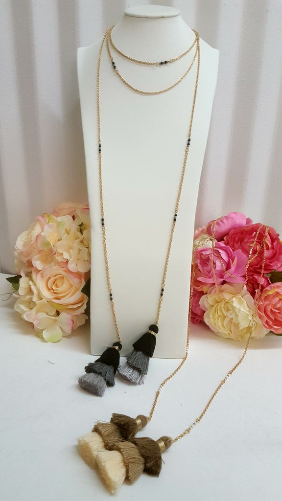 Fashion Long adjustable linked necklace
