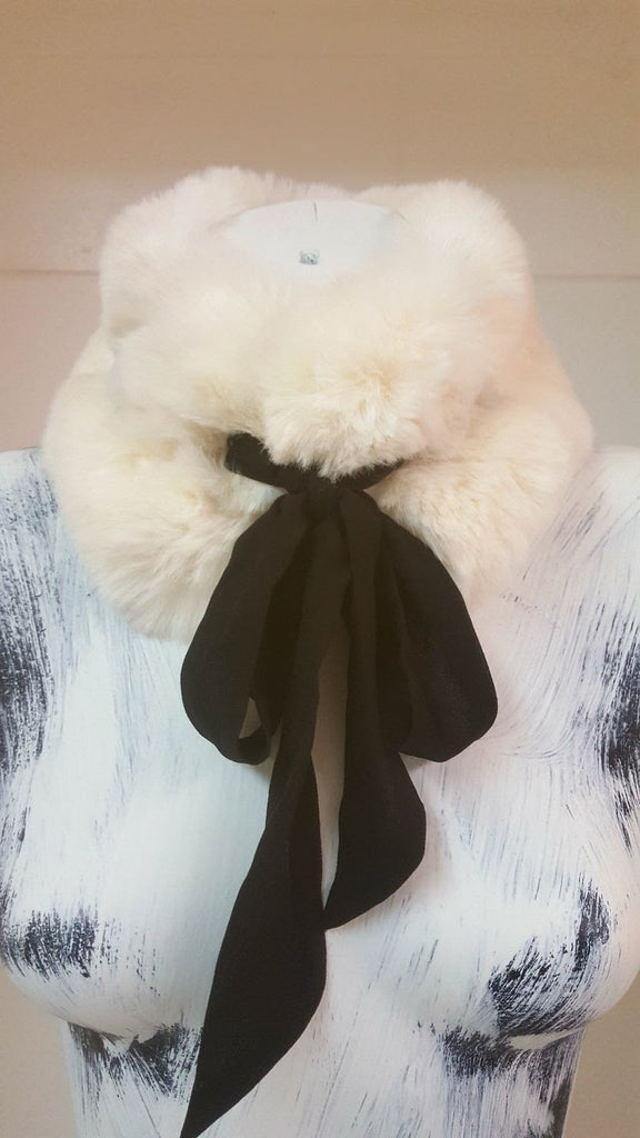 Elegant winter warm scarf collar