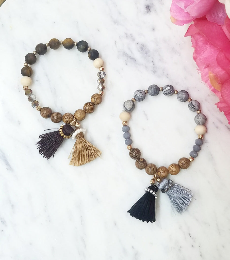 Fashion double tassel bracelet