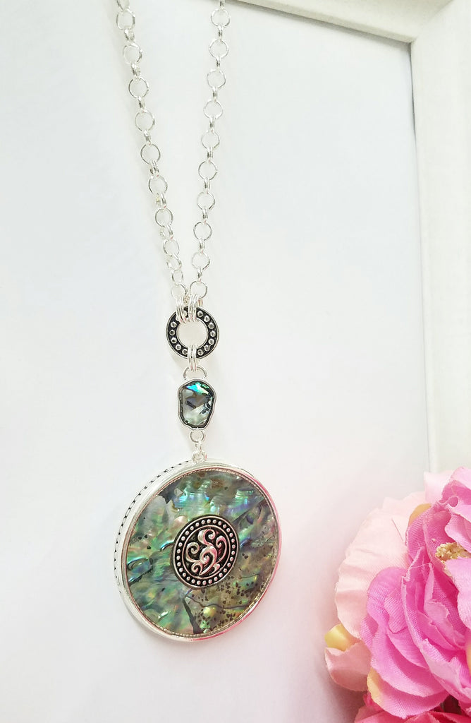 Fashion big green emerald pendant necklace