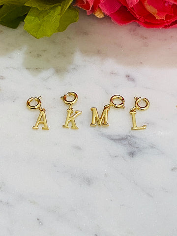 18k real gold plated initial pendant