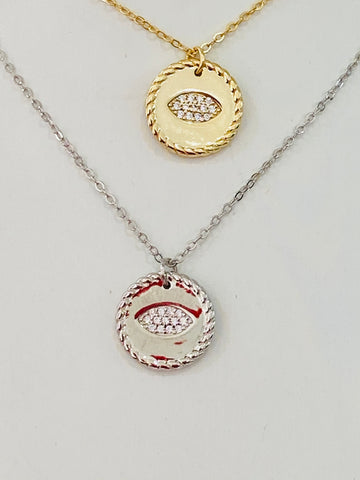 .925 Sterling silver evil eye necklaces