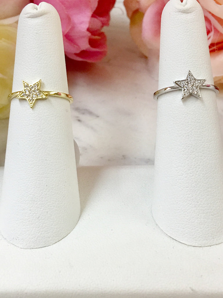 .925 Sterling Silver Star Ring