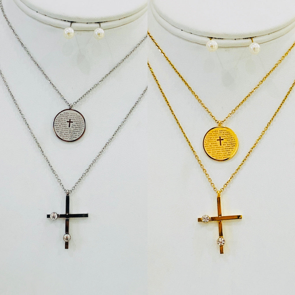 Stainless Steel Religious Necklace Set