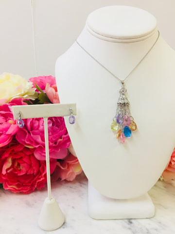 .925 Sterling Silver Colorful Set