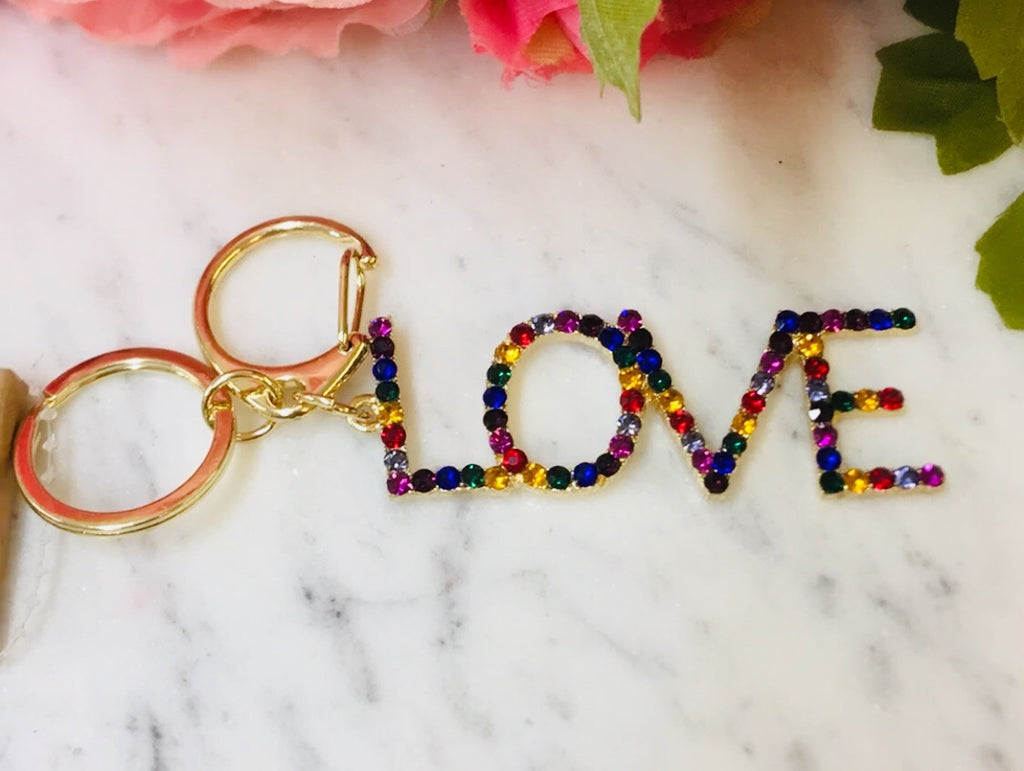 Fashion Love Multicolor Keychain