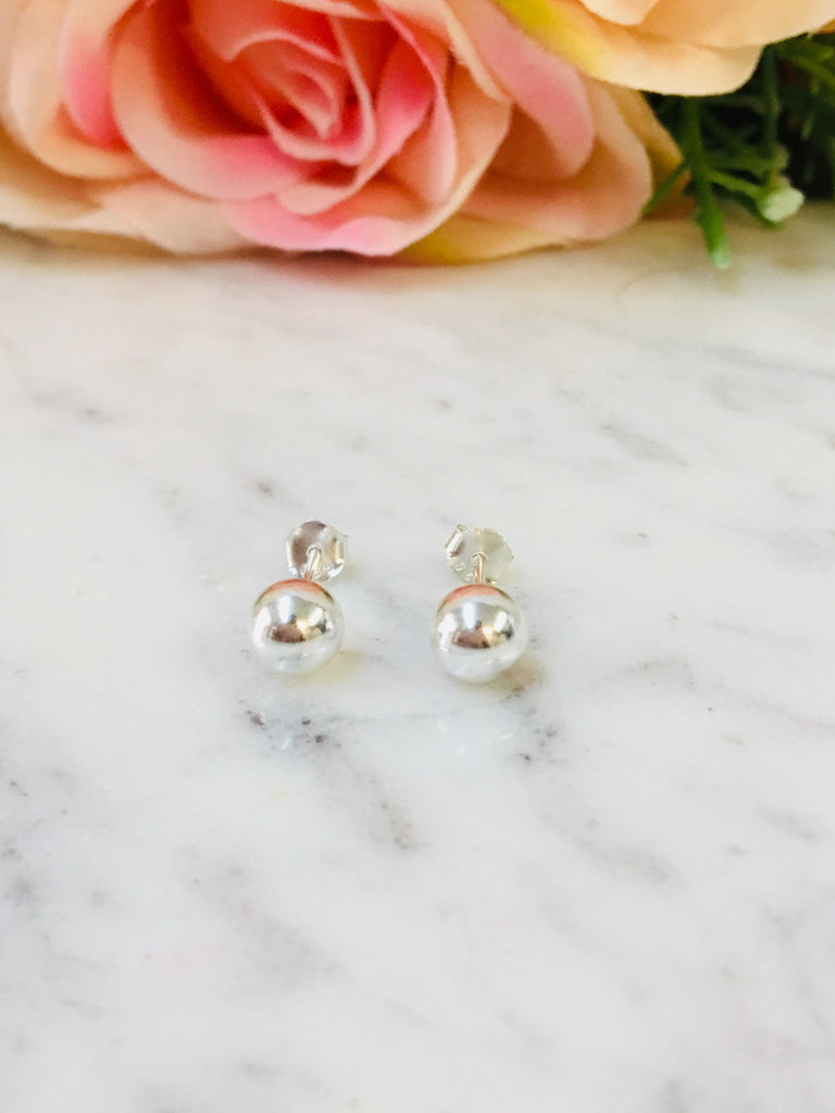 .925 Sterling Silver 6mm Earrings