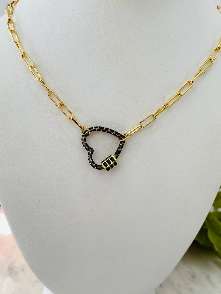 18k real gold plated heart necklaces