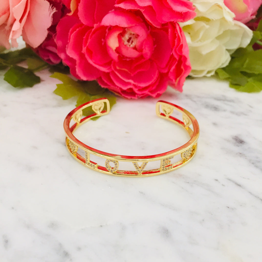 18k real gold plated Love bangle bracelet