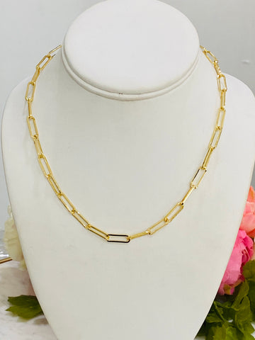 18k real gold plated necklaces