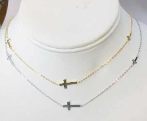 .925 Sterling Silver Cross Necklace