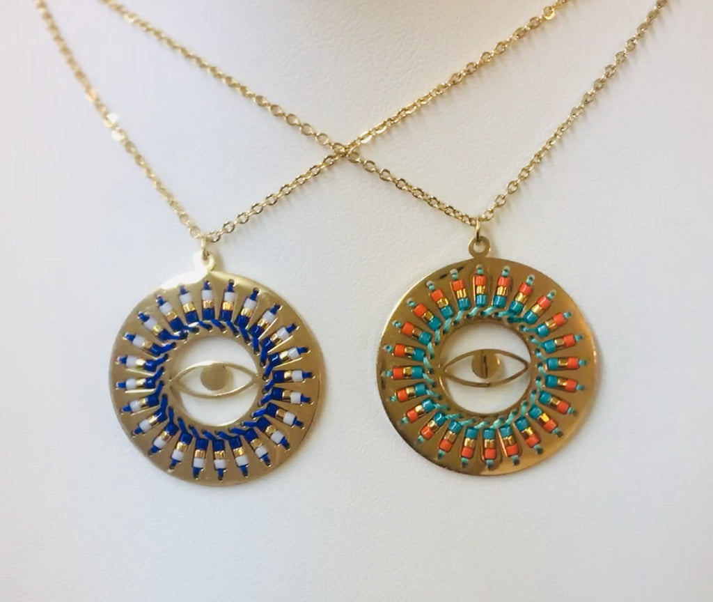 Stainless Steel Evil Eye Necklace