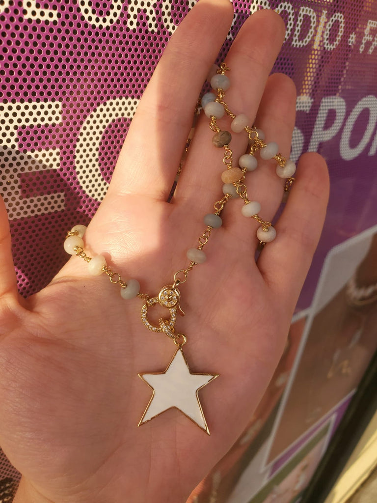 18k Real Gold Plated Star Necklace