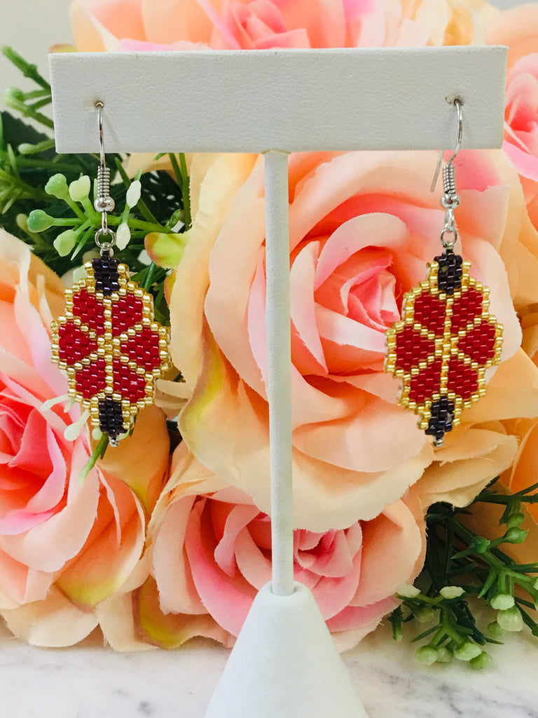 Flower Miyuki Seed Earrings