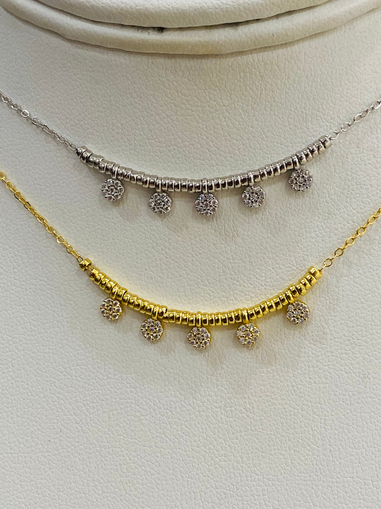 .925 Sterling silver dangling necklaces