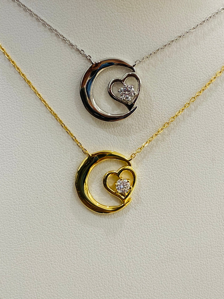 .925 Sterling silver heart necklaces