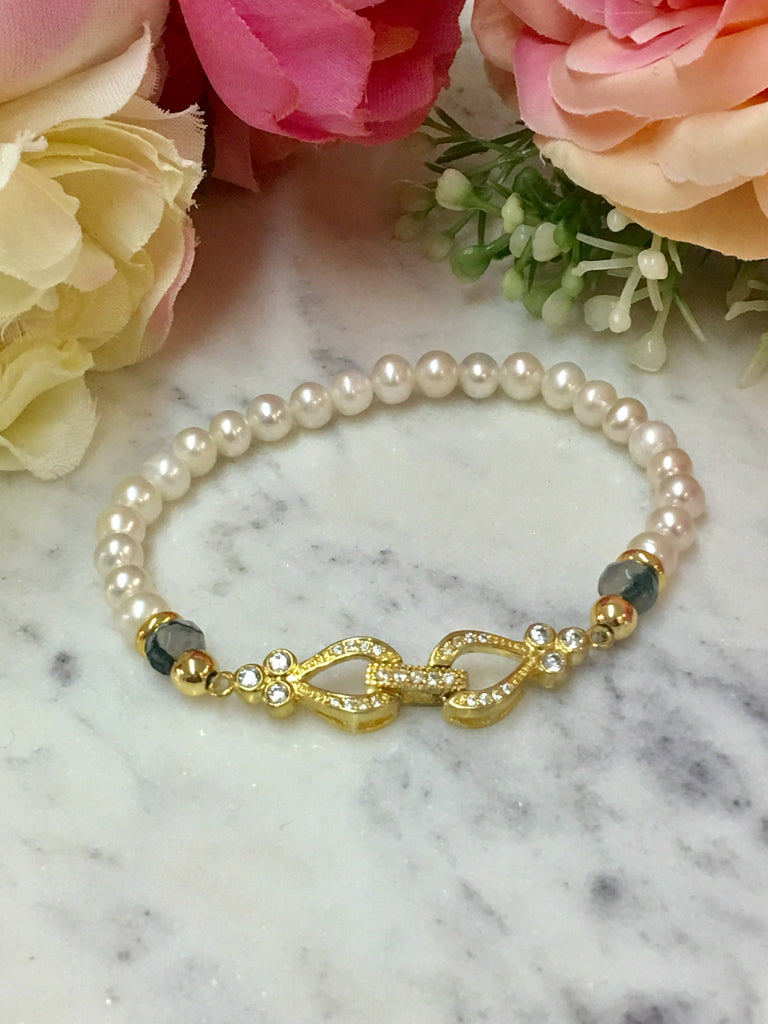 24k Real Gold Plated And Freshwater Pearls