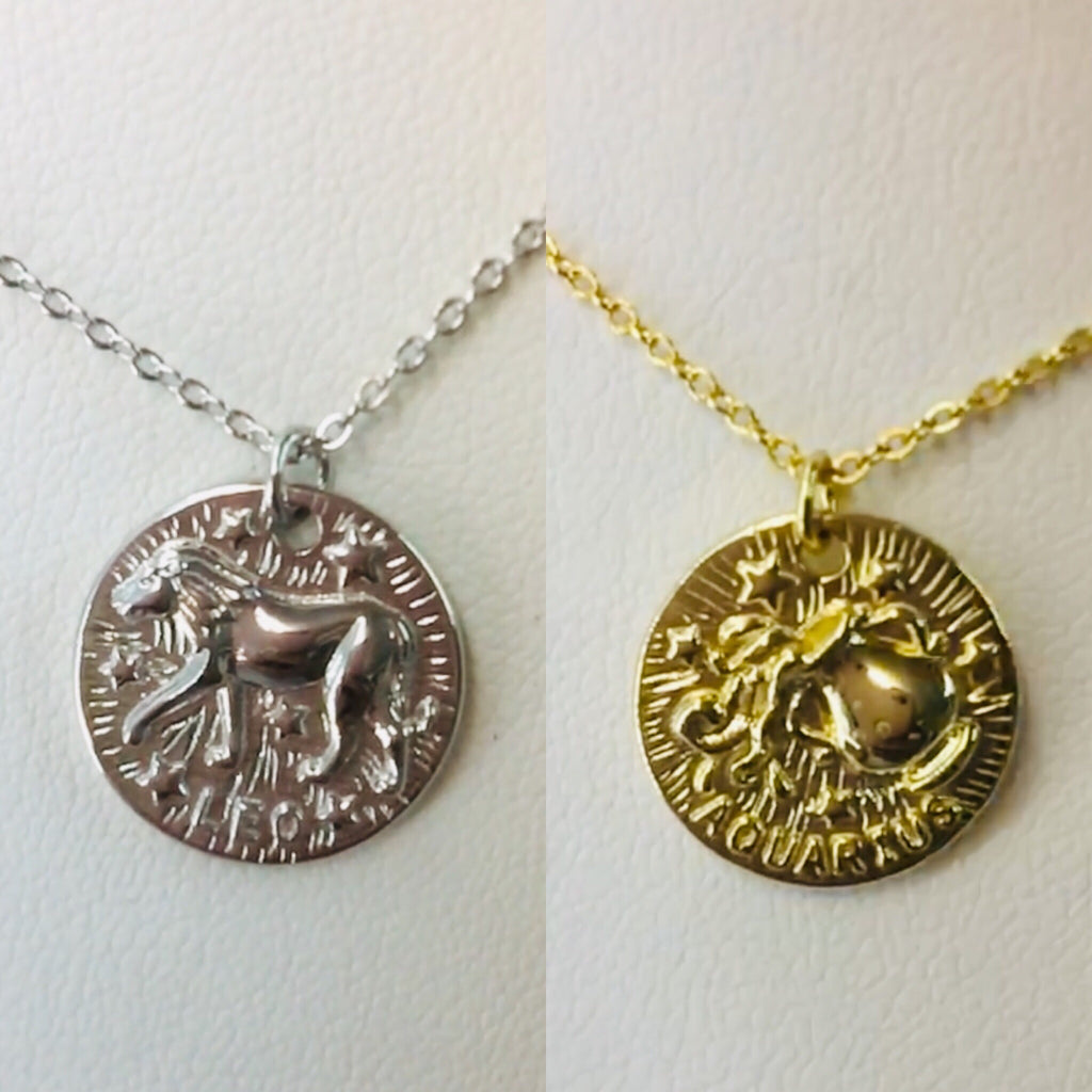 .925 Sterling Silver Zodiac Sign Necklace