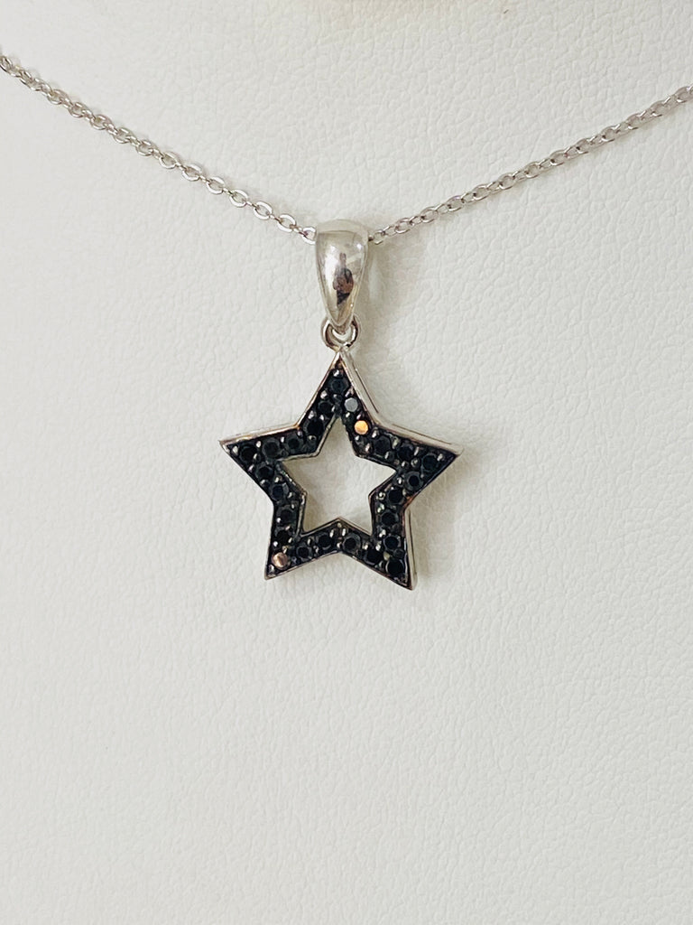 .925 Sterling Silver Star Necklace