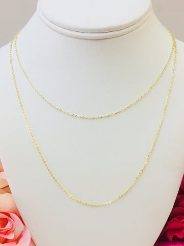 .925 Sterling Silver And 18k Real Gold Plated Necklace