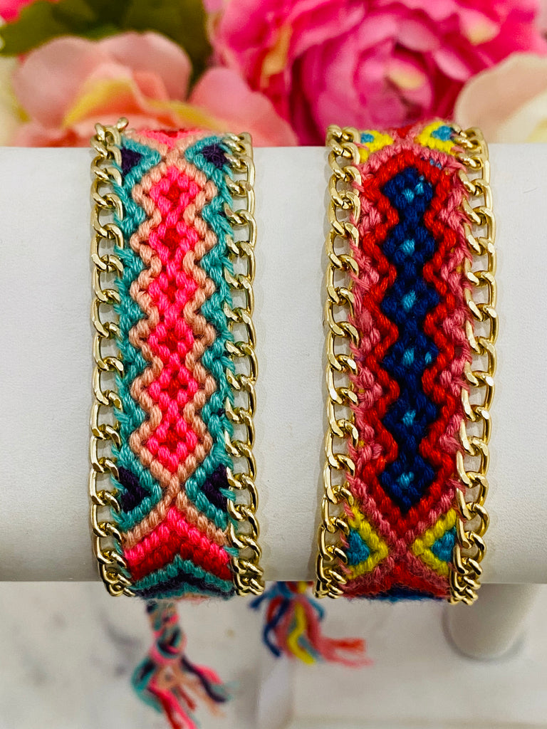 18k Real Gold Plated Woven Bracelets