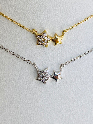 .925 Sterling Silver Star Necklaces