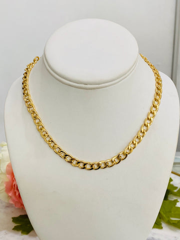 18k real gold plated chain necklaces