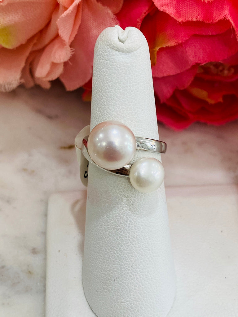 .925 Sterling Silver Pearl Rings