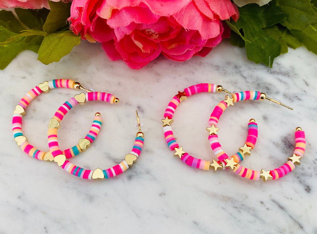 Fashion multicolor hoop earrings