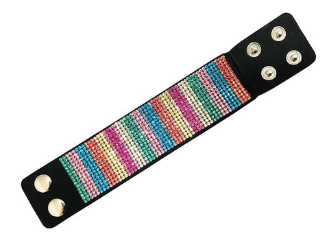 Leather Rainbow Bracelet