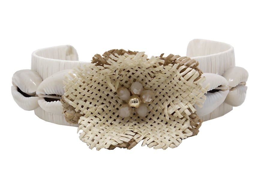 Fashion Flower With Shell Bangle