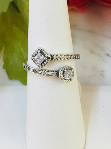 .925 Sterling Silver And Cz Rings