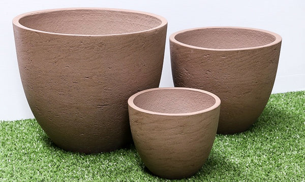 Tea Cup Taupe Wash Set of 3. Min order 4 sets