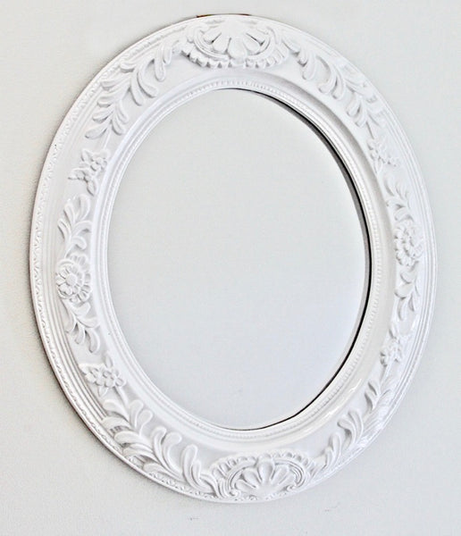 Oval Mirror Glossy White