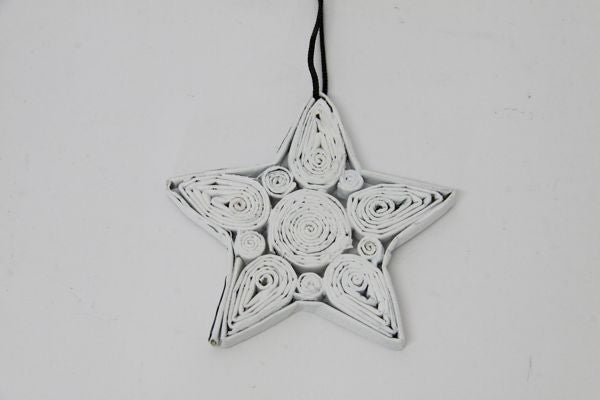 Christmas Decoration Paper Star White 1