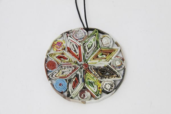 Christmas Decoration Paper Bauble Multicolor 1