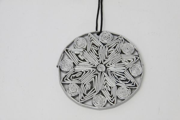 Christmas Decoration Paper Bauble Silver 1