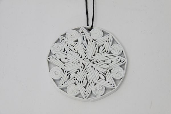 Christmas Decoration Paper Bauble White 1
