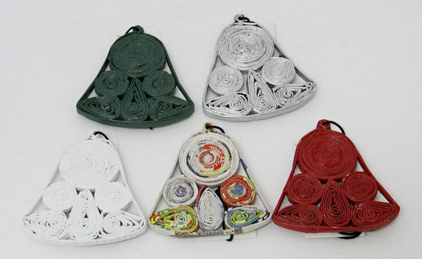Christmas Ornament Bell All Colours