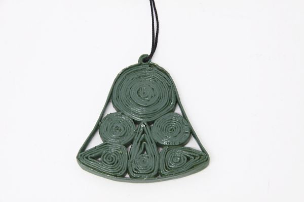Christmas Decoration Paper Bell Green 1
