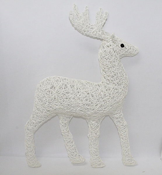 Christmas Decoration Deer Hanging White 1