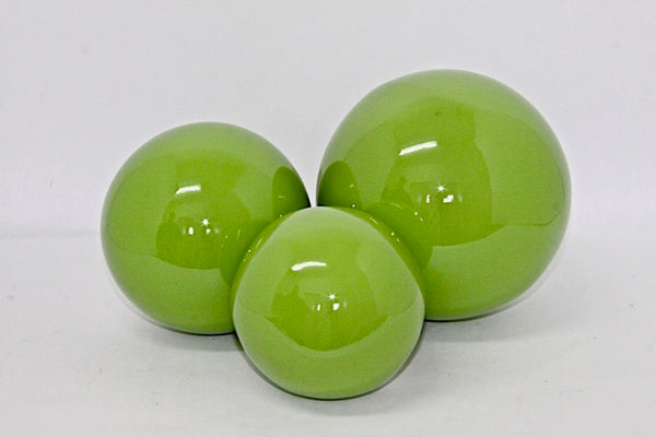 Decorative Ball Green Lacquer