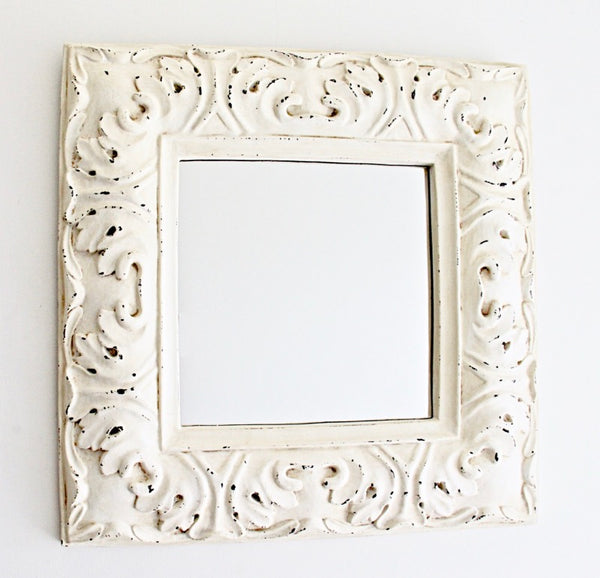 Rustic Mirror White
