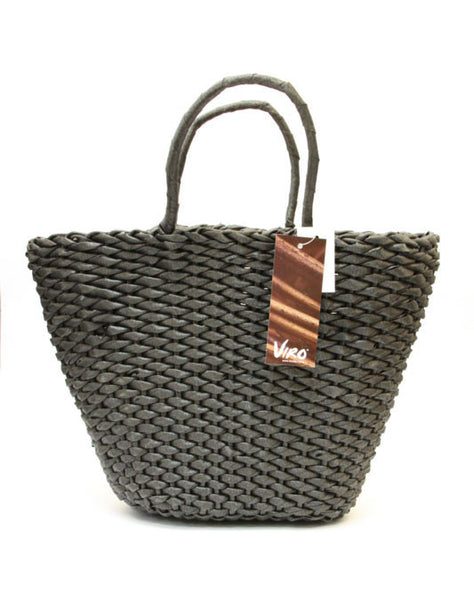 Water Hycinth Viro Basket – Black