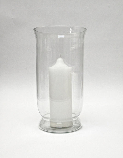 Glass Vase – Light Green Glass (16cm x 28cm)