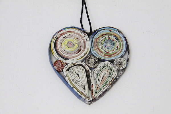 Christmas Decoration Paper Heart Multicolor 1