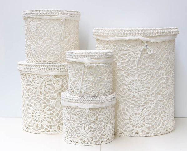 Cotton thread basket set/5