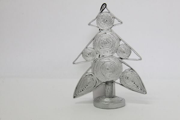 Christmas Decoration Paper Christmas Tree Silver 1