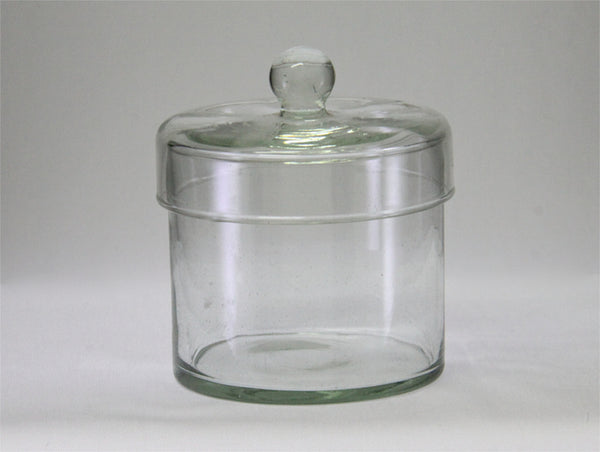 Glass Canister with Lid-Slim Small
