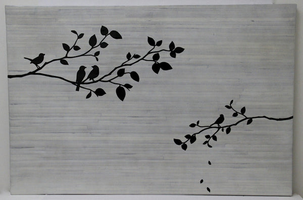Wall Art Bird and Branch White wash